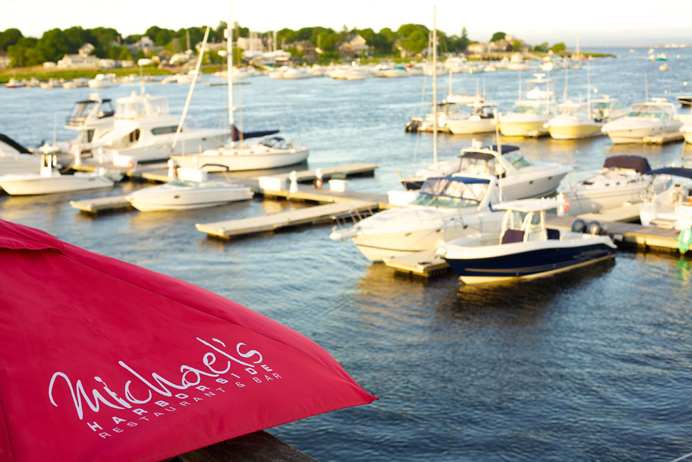 Umbrella, Logo, Boats, Harborside