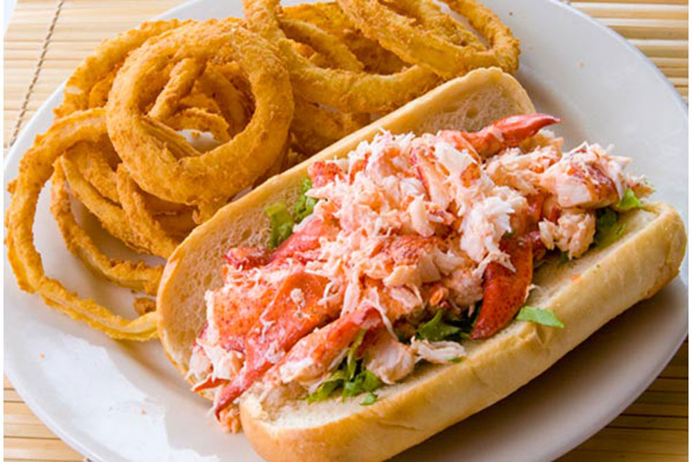 Lobster Roll, Onion Rings, Restaurant, Food, New England